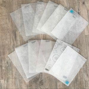 Office - LOT of 12 Like New Embossing Folders